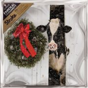 Pack of 8 Stroke Association Charity Christmas Cards - Cow In Barn
